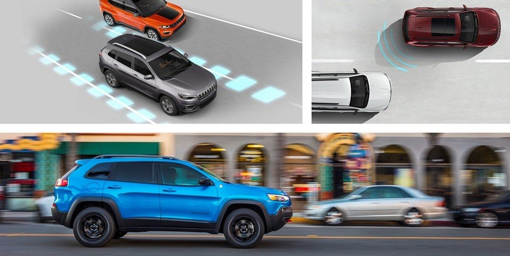 2020 Jeep Cherokee Safety Features, motion sensors and lane assist features